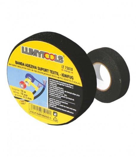 Banda adeziva, suport textil - ignifug LT75010