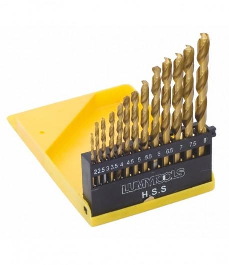 Set 13 burghie pentru metal HSS titanate LT22300
