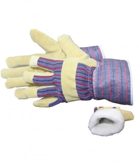 Leather gloves, for winter, 10 inch LT74005