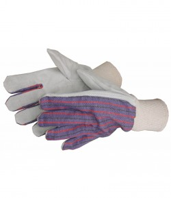 Leather gloves, cotton, 10 inch LT74020