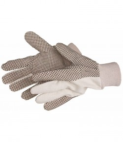 Black PVC - cotton gloves, for garden LT74100