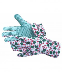 Polyester - cotton gloves, for garden, 10 inch LT74105