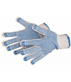 PVC dots, knitted working gloves LT74120