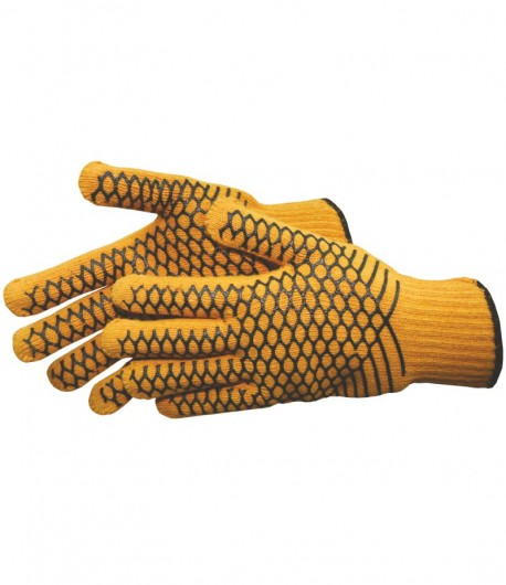 PVC net, knitted working gloves LT74125