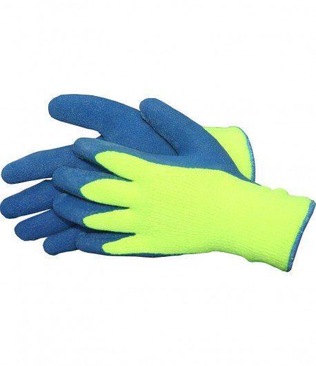 Blue latex protection gloves, for winter LT74151