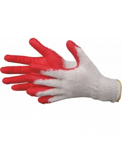 Red latex working gloves LT74160