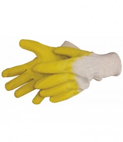 Yellow latex working gloves LT74170