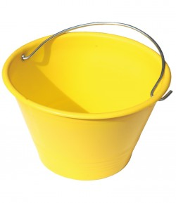 Yellow rubber bucket LT06240