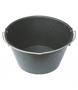 Black rubber bucket LT06250