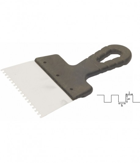 Spaclu inox crestat, maner PVC LT06299