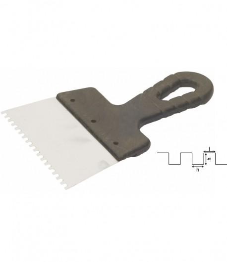 Spaclu inox crestat, maner PVC LT06306