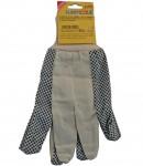 Black PVC - cotton gloves, for garden LT74100