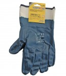 Blue nitrile protecting gloves, CE LT74153