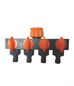 "Conector distribuitor cu 4 robineti, 3/4"" - 1"", card LT36664"