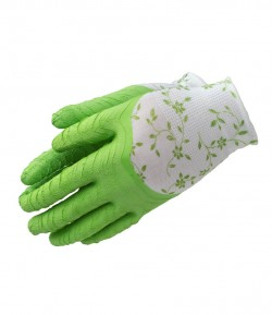 Foam latex-poliesterglove for garden LT74108