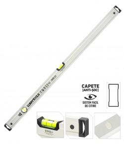 Nivela aluminiu PRO - doi indicatori, cu magnet LT17628