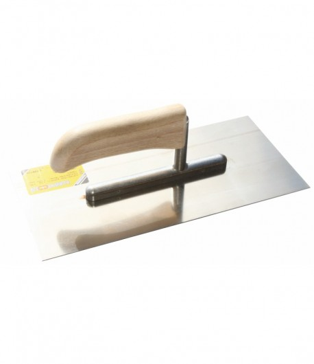 Stainless steel trowel with wooden handle LT06720