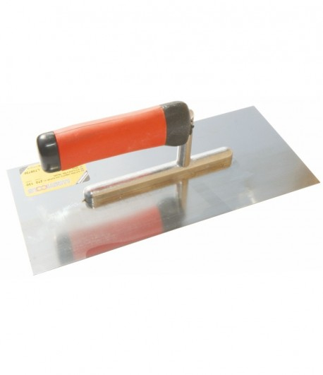 Stainless steel trowel with rubbery handle LT06730